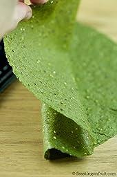 Raw Wraps Spinach- Gluten Free. Vegan, Paleo (Quinoa Seeds), Raw