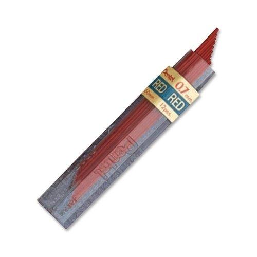 - Pentel Lead Refill.7mm, 12/TB, Red (PENPPR7)