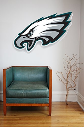 NFL logo decal, Eagles NFL decal, Eagles stickers, Philadelphia Eagles large decal, Eagles decal, Eagles sticker, Eagles decor, Eagles wall decal, Philadelphia Eagles logo decal pf74 (5
