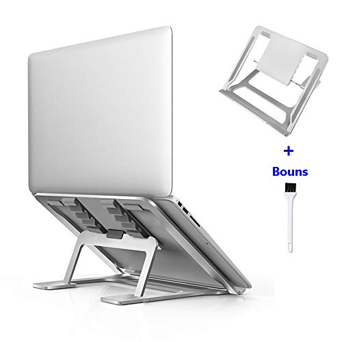 Adjustable Laptop Stand,Ventilated Portable Ergonomic Notebook Riser for Desk,Aluminum Foldable Stand Compatible with More Laptops 10