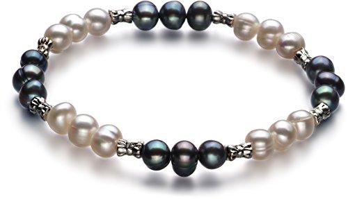 7mm Genuine Black Pearl Bracelet - 9