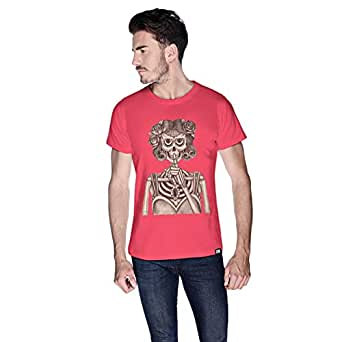 Creo Miss Coco Skull T-Shirt For Men - S, Pink