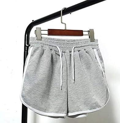 LMSHMDK Pantalones Cortos Mujer A Rayas Laterales con Cintura Alta ...