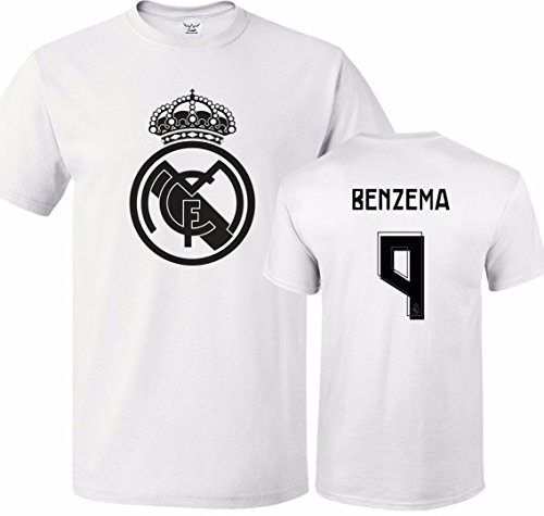 Benzema Madrid Real (Tcamp Real Madrid Shirt Karim Benzema #9 Jersey Men T-shirt)
