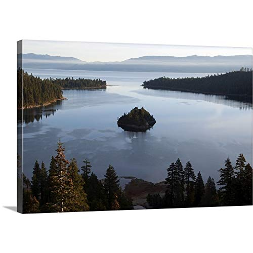 (GREATBIGCANVAS Gallery-Wrapped Canvas Entitled Early Morning Light illuminates Emerald Bay in Lake Tahoe, CA by 18