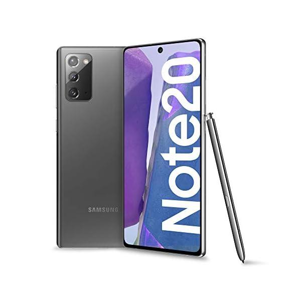 "Samsung Galaxy Note20 Smartphone, Display 6.7"" Super Amoled Plus Fhd+, 3 Fotocamere Posteriori, 256Gb, Ram 8Gb, Batteria 4300 Mah, Dual Sim + Esim, Android 10, Mystic Gray [Versione Italiana] 1"
