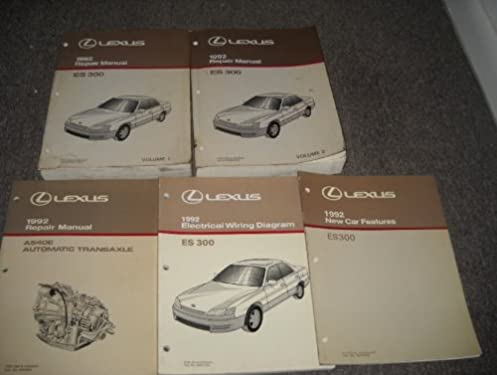 1992 lexus es300 es 300 service repair shop manual set (2 volume set 1992 Lexus ES300 Custom