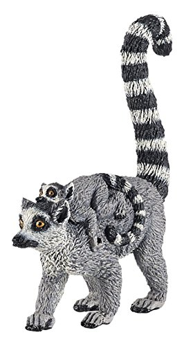 (Papo Lemur and Baby Figure, Multicolor)