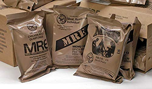 (Meals Ready-to-Eat) Genuine U.S. Military Surplus Assorted Flavor (6-Pack) (12 Meals.)