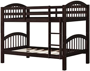 Amazon Com Bunk Bed Twin Over Twin 500 Lb Heavy Duty Julyfox 2 Wood Bed Frames With Finsbury Headboard Footforad No Box Spring Need Bunk Bed W Ladder Guard Rails For Small Spaces Espresso Kitchen