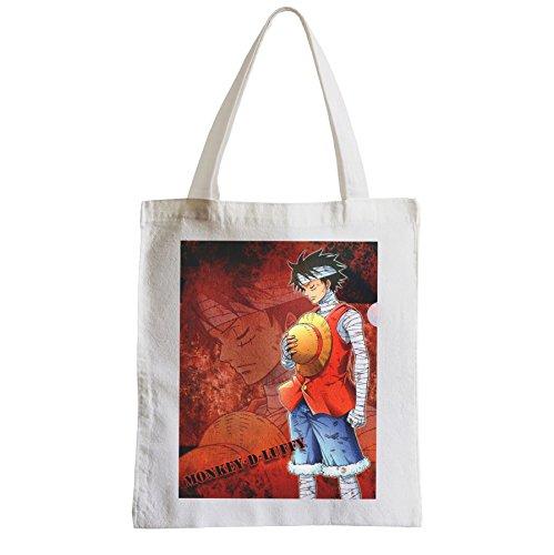 Große Tasche Sack Einkaufsbummel Strand Schüler luffy one piece Manga Piraten gesammelt werden