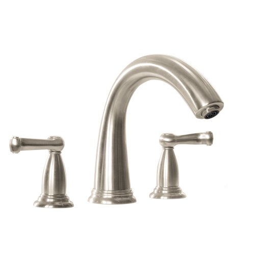 Hansgrohe 06121820 Swing C 3 Hole Tub Filler Trim with Scroll Handle, Brushed (Hansgrohe Swing Roman Tub Faucet)