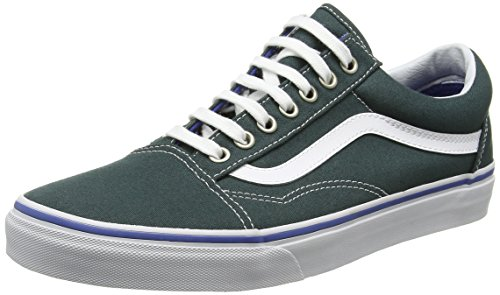 ce50e74631 Galleon - Vans Mens Old Skool Green Gables True White Sneaker - 11.5