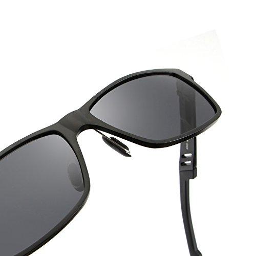 y de Gray aleación Marco con de Ciclismo Pesca Oculos Que Ruiyue polarizada Alta gray Resistencia Hombre de Shades para Conduce Calidad Sol Gafas gwcAT7qO