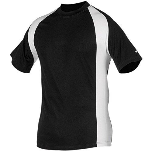 Worth Youth Titan Baseball Jersey , Black/White, S