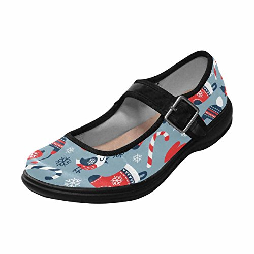 InterestPrint Womens Comfort Mary Jane Flats Casual Walking Shoes Multi 10 brj2ZSxYOt