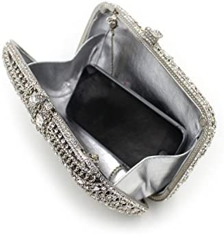 Pretee Lady Abend Kupplungen Umhängetaschen Luxus Dinner Party Bunte Shells Abend Stickerei Kette Tasche Silber