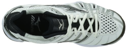 Mizuno Women's Wave Tornado 8 Volleyball Shoe,White/Black,10.5 M US
