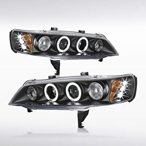 Autozensation For Honda Accord 2Dr 4Dr Black Halo Projector LED Headlights