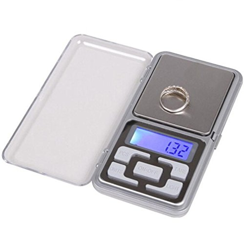 Scale,Rawdah 200g x 0.01g Digital Scale Balance Weight Gram LCD forJewelry Gold Herb (Silver)