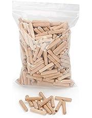 Houten pluggen | Ribbelhouten pluggen 400 stuks | pluggen van beukenhout | ideaal voor plugfrees & lamelloffrees