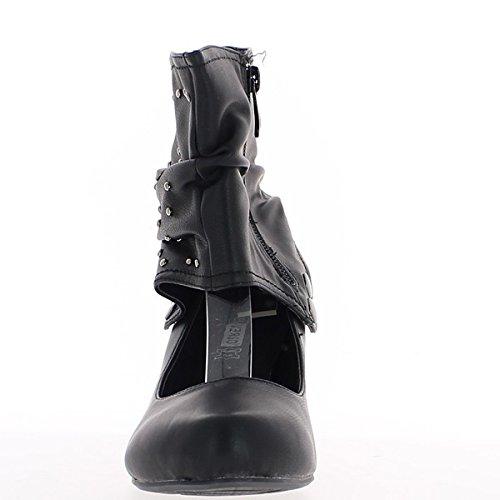 Dimensioni nero tacco scarpe 5,5 cm