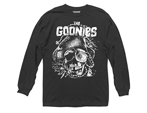 Goonies Willie Map Collage Adult Long Sleeve Shirt - S to 3XL