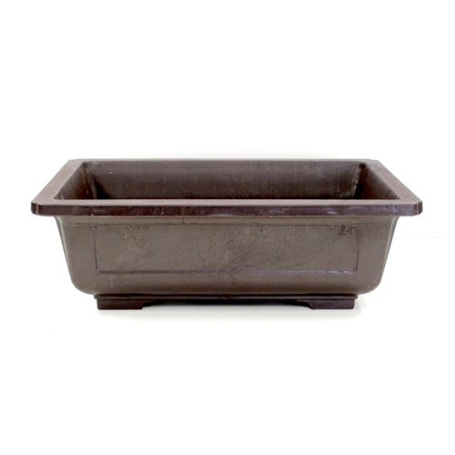Rectangle Mica Bonsai Training Pot - Superior To Plastic - Won't break from freezing or dropping like clay, earthenware or ceramic (Exterior Dimensions: 12 1/2 x 9 x 4)