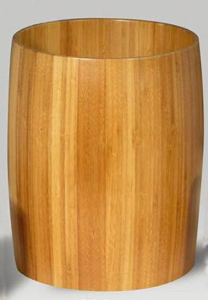 Creative Home Natural Bamboo Waste Basket, Trash Can