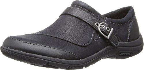 Merrell Women's Dassie Buckle Slip-On Shoe,Black,8.5 M US
