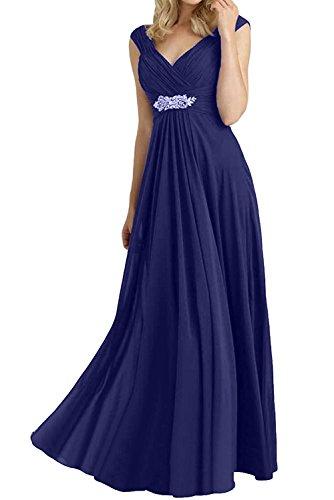 Brautjungfernkleider blau lang