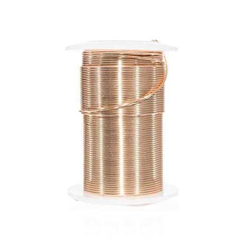 Craft County Tarnish Resistant Copper Craft Wire - for Jewelry Making, Ornament Crafting, and Wire Sculptures (Gold, 10 Yards X 16 Gauge)