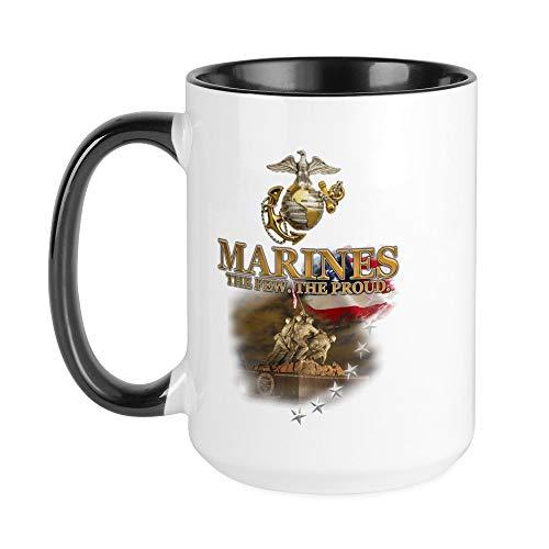 CafePress USMC War Memorial: Large Mug Coffee Mug, Large 15 oz. White Coffee Cup