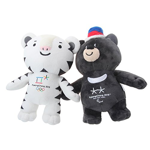 Winter Olympic Mascots (2018 Pyeongchang Winter Olympic Official Mascot 11 Inch (30 Centimeters) Dolls Bandabi and Soohorang (Pack of 2))