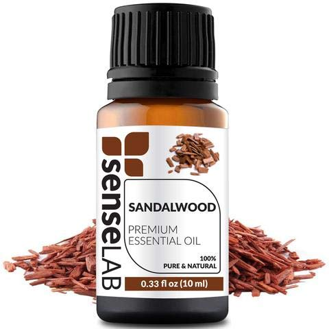 - Sandalwood Essential Oil - INDIA - by SenseLAB - 100% Pure, Natural and Highly Concentrated; Therapeutic Grade Oil 0.33 fl oz (10ml)