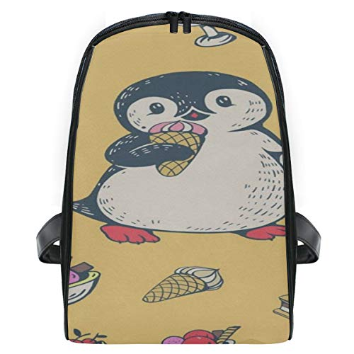 Backpack Penguin Ice Cream CUTE Personalized Shoulders Bag Classic Lightweight Daypack -