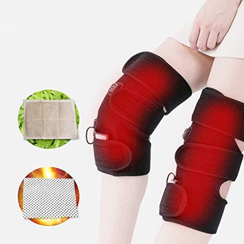 Cojín de la rodilla calefacción almohadilla calienta la rodilla, almohadilla de calor reCargable de litio eléctrico...