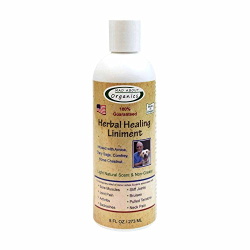 Mad About Organics All Natural Pain-Relieving Herbal Healing Liniment for All Pets 8oz