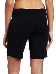 Danskin Women\'s Essentials Bermuda Short, Black, X-Large