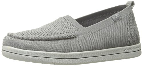 Skechers Bobs Dames Super Pluche-gruizige Knitty Plat Grijs