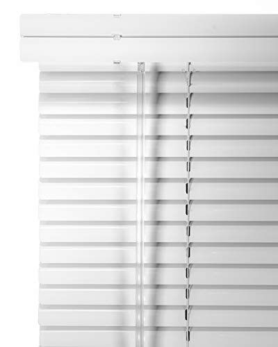 CHICOLOGY Custom Made Corded 1-Inch Aluminum Mini Blind, Blackout Horizontal Slats, Inside Mount, Room Darkening Perfect for Kitchen/Bedroom/Living Room/Office and More – 33″ W X 42″ H, Artic White