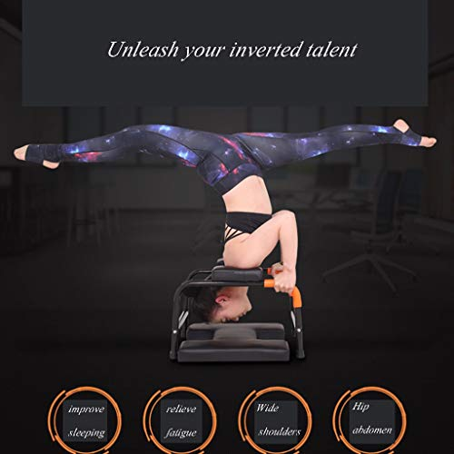 Sports Fitness Yoga Inverted Chair Stretching Frame Multi-Function Inverted Auxiliary Exercise Device Home Inverted Health Sofa Stool Fitness Chair (Load: 150kg) Exercise Ball Chairs by PHSP (Image #3)