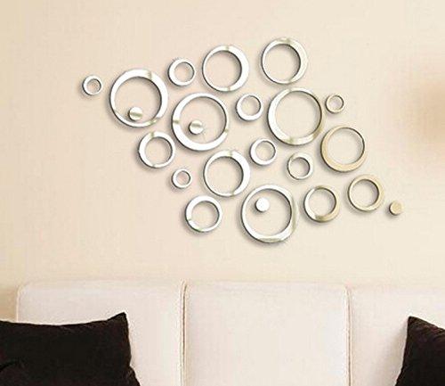 Tamatebako Moderne Kreis Spiegel 3D Spiegel Wandtattoo Wanddeko ...