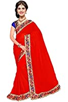 Sarees below 500 rupees Sarees below 1000 rupees Sarees new collection party wear Sarees 2017 RED MORE POPAT BORDER Sarees for women party wear Sarees for women latest design party wear Red Colour Georgette Sarees new collection party wear Red Colour silk Sarees saree under 1000 saree under rupees 500