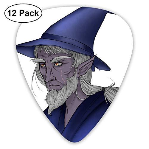 HOOAL Custom Guitar Picks, Halloween Wizard Hat Men Guitar Pick,Jewelry Gift For Guitar Lover,12 Pack ()
