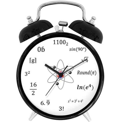 22yiihannz Desk Clock 4in Sheldon Cooper Big - Unique Decorative Battery Operated Quartz Ring Alarm Clock for Home,Office,Bedroom.