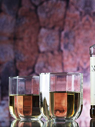 SkyKey OceanTulip Whisky Glasses Set of 6,300ml,Clear