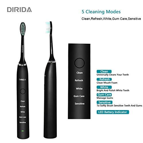 DIRIDA S-100 Rechargeable Toothbrush USB Charging Electric Toothbrush IPX7 Waterproof Ultra Deep-Clean Teeth