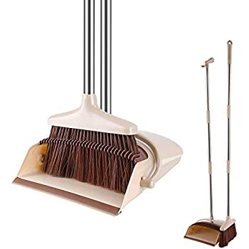 Amazon Com Windproof Broom And Dustpan Set Upright With