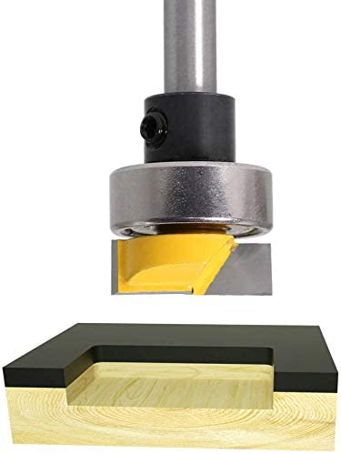 Bestgle 1//4 Shank Flush Trim Hinge Mortise Template Router Bit 3//4 Diameter Woodworking Router Tool